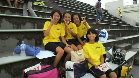 新潟市陸上競技場・・・・・元気いっぱい走りました。